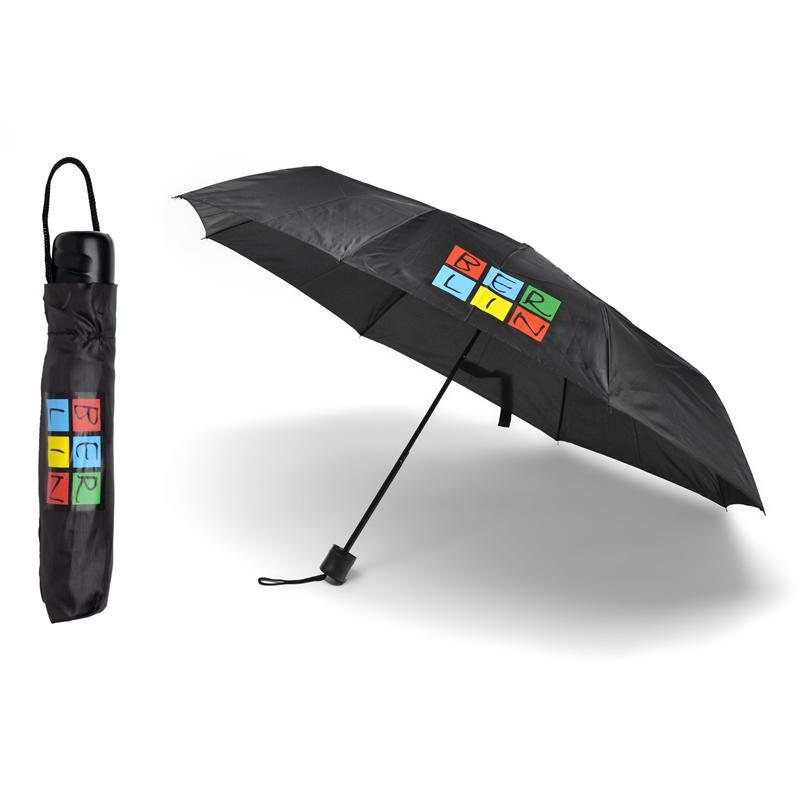 Faltregenschirm BERLIN schwarz-bunt