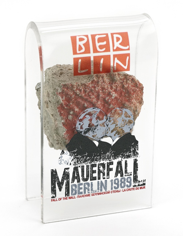 Sonder-Edition  Mauer-Acrylbogen Mauerfall Bruderkuss
