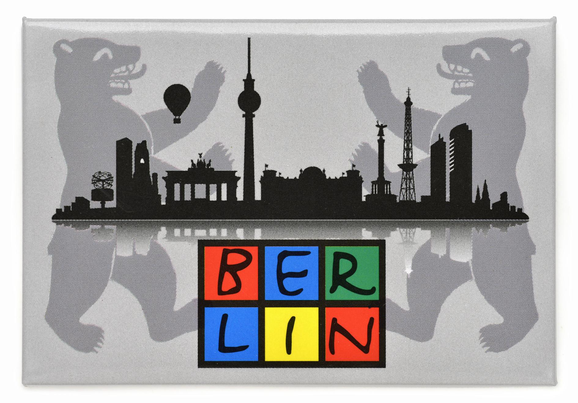 Magnet BERLIN Skyline, grau