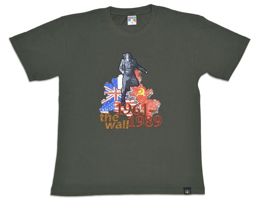 "T-Shirt ""Mauerspringer"" The Wall 1961 - 1989 grau-XXL"