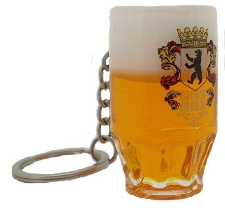 Schlüsselanhänger Bierseidel BERLIN Wappen