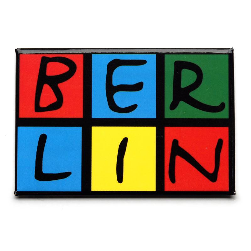 Magnet im Postkarten-Stil BERLIN