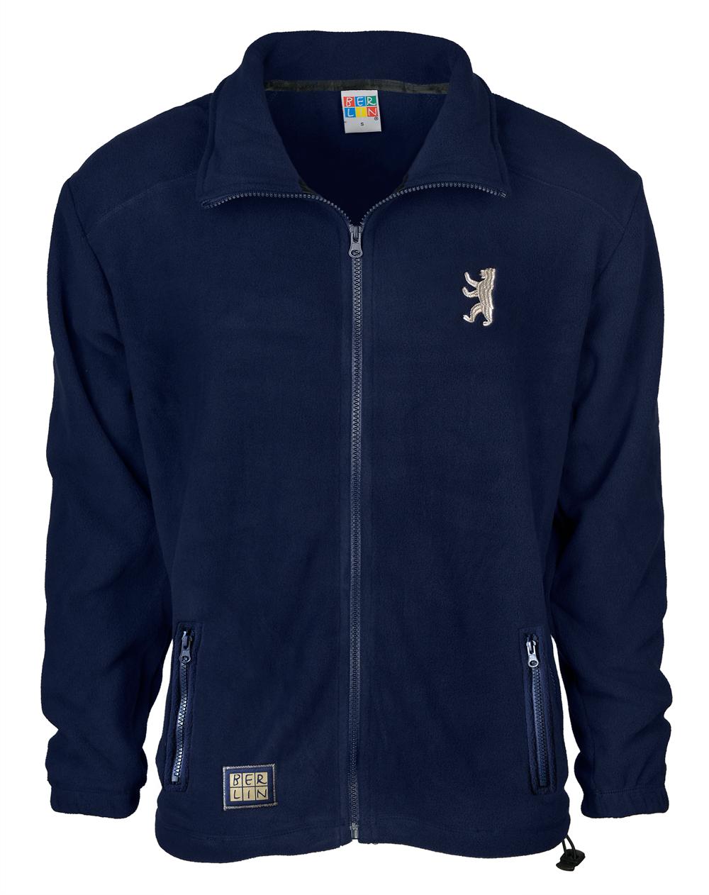 Polar Fleece-Jacke BERLIN blau-XL