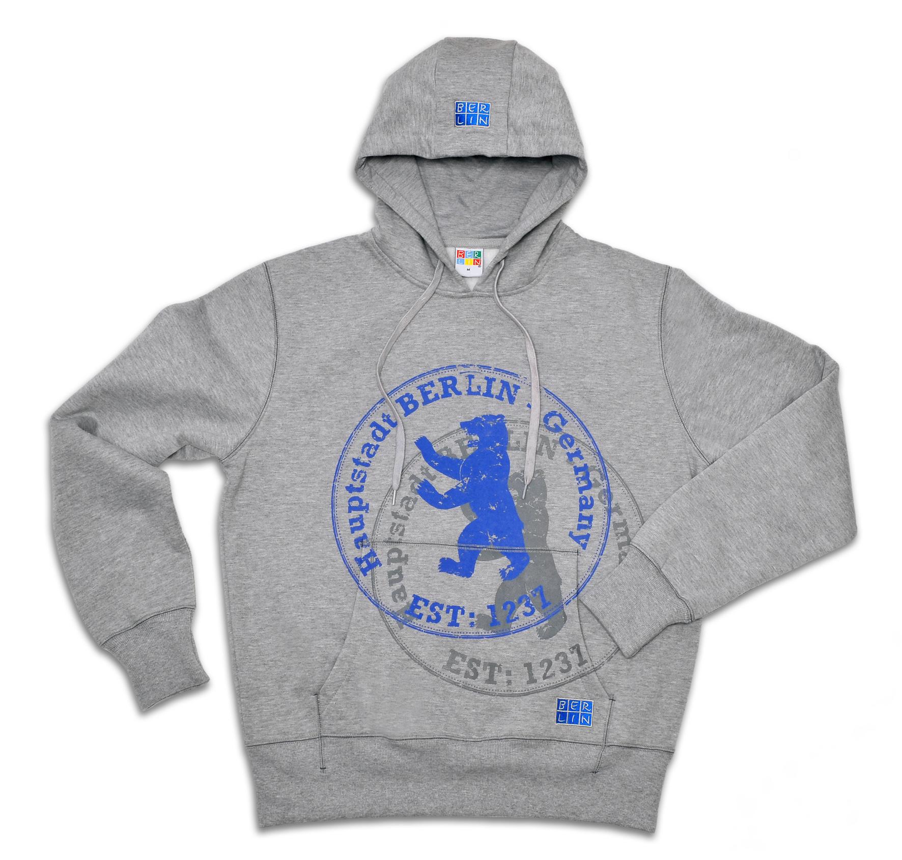 Sweatshirt BERLIN Stempel grau-98/104