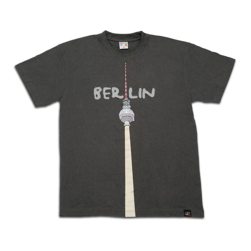 Kids T-Shirt TV-Turm grau-128