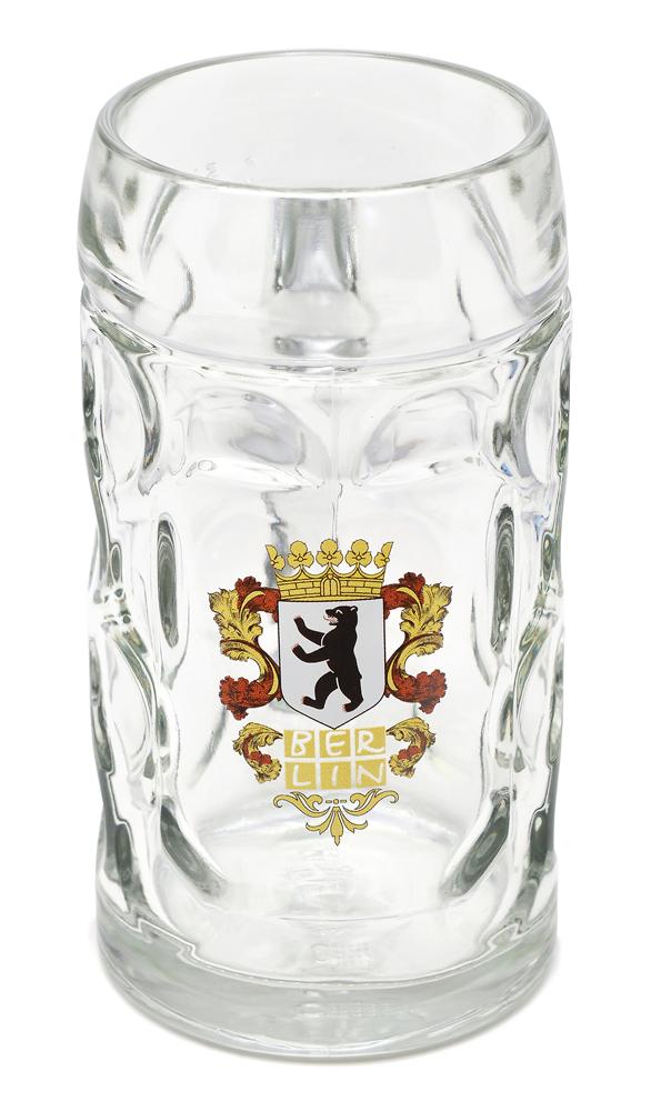Bierkrug BERLIN Wappen 0,5 Liter