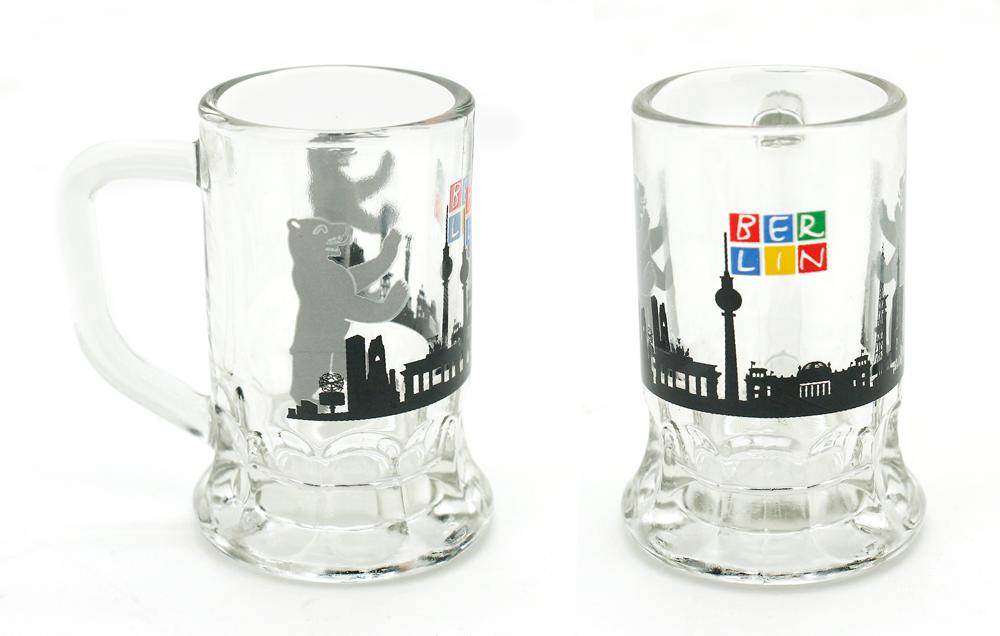 Schnapsglas BERLIN Skyline mit Henkel