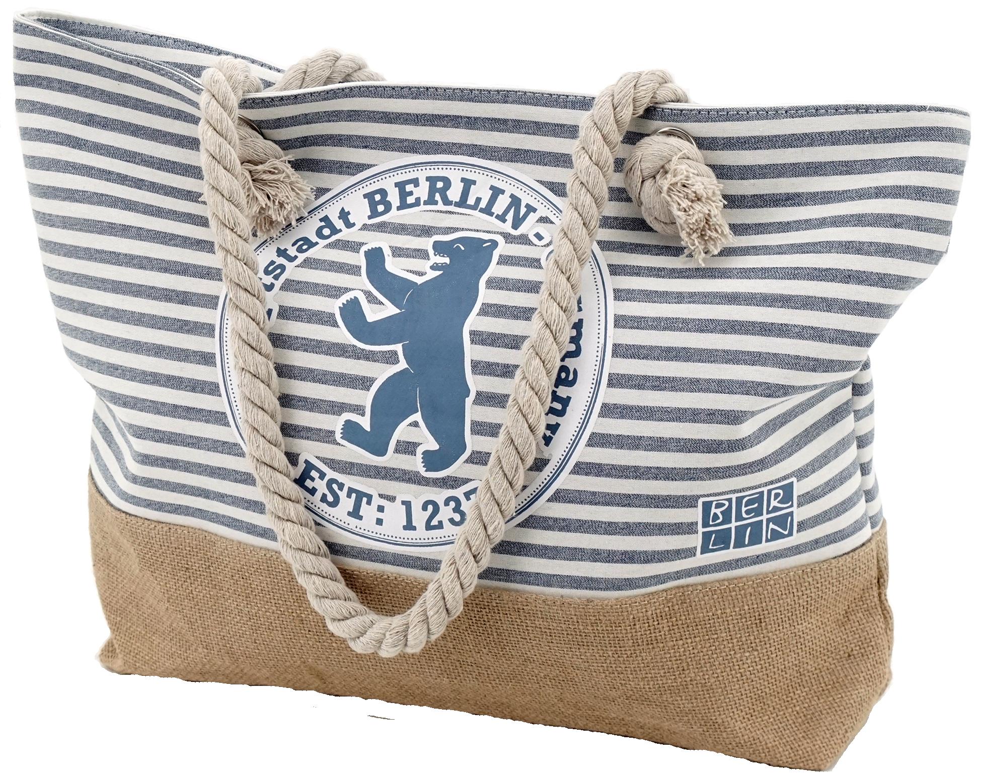 Summerbag Stempel blau gestreift