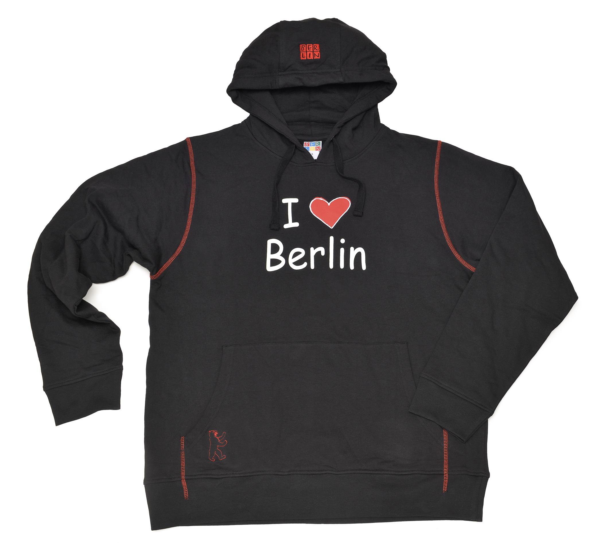 "Sweatshirt BERLIN ""I love BERLIN"" schwarz-XS"