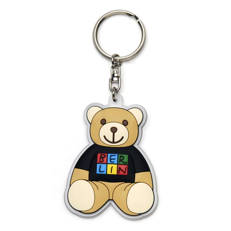 Schlüsselanhänger BERLIN Bär, Gummi