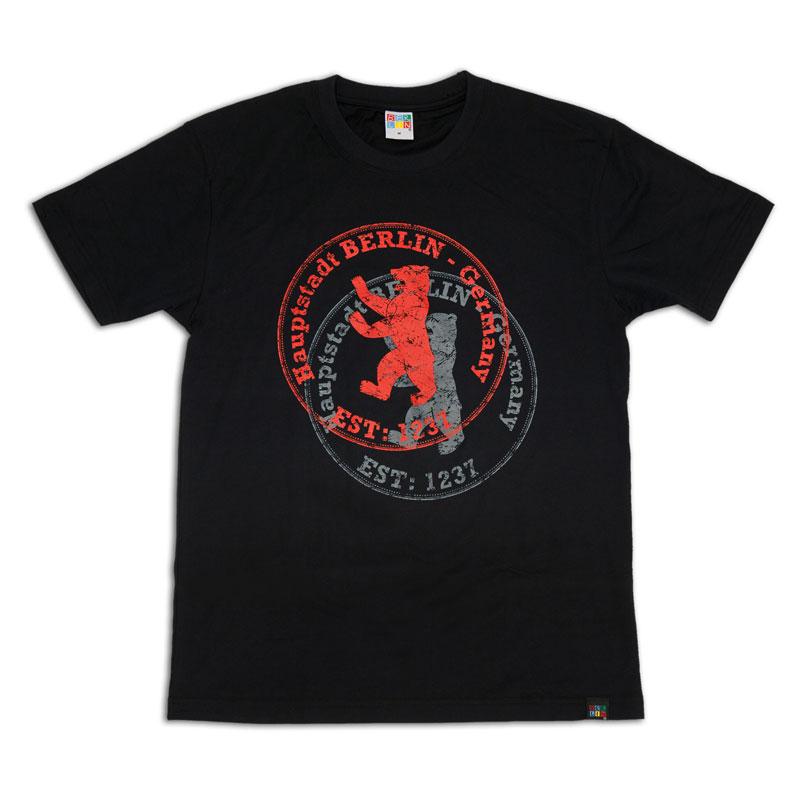 T-Shirt BERLIN Stempel schwarz-XXL