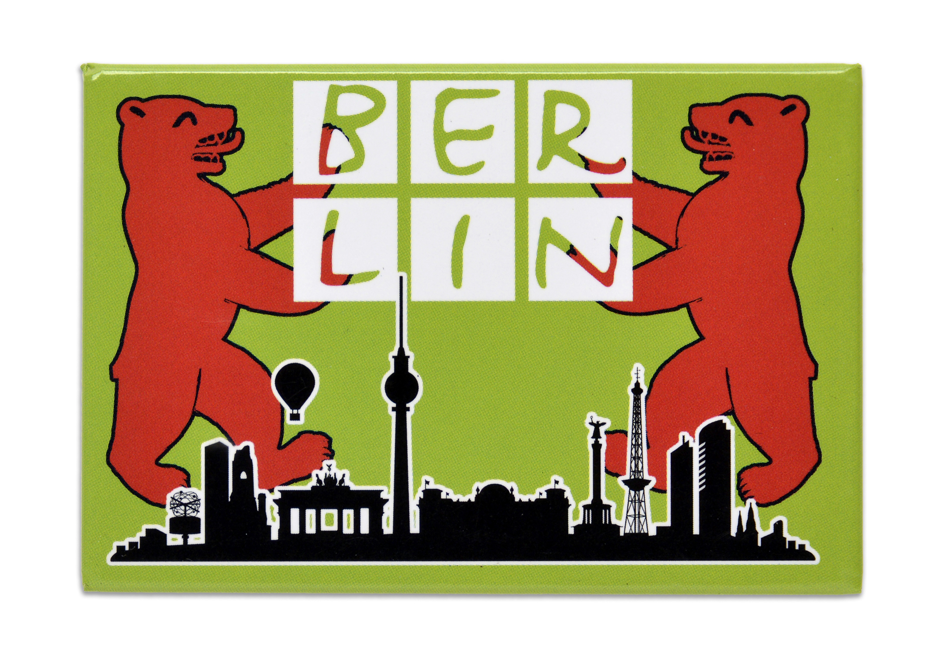 Magnet BERLIN Skyline Bär grün