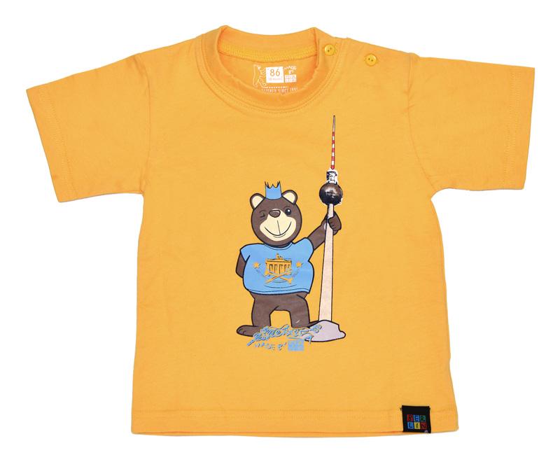 Kids T-Shirt BERLIN Bär mit TV-Turm rot-74