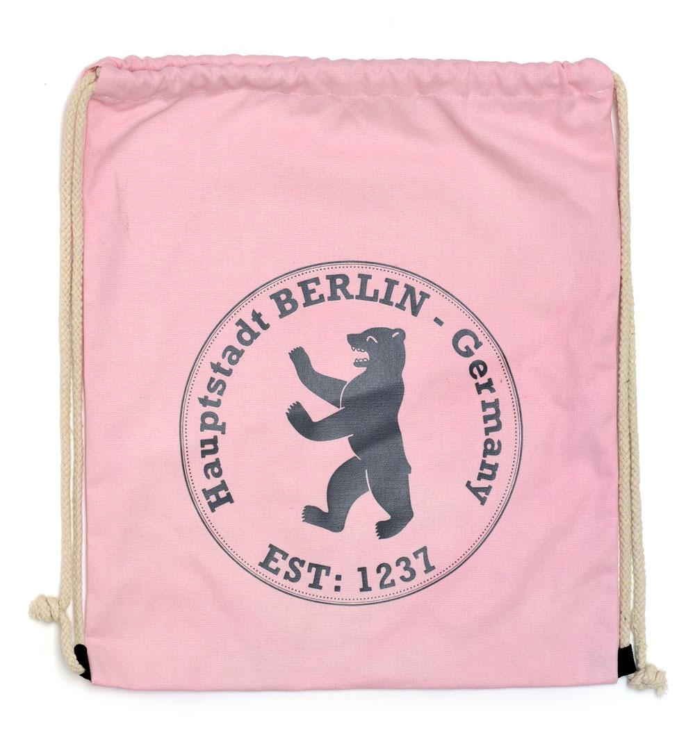 Canvas Sportbeutel Stempel rosa