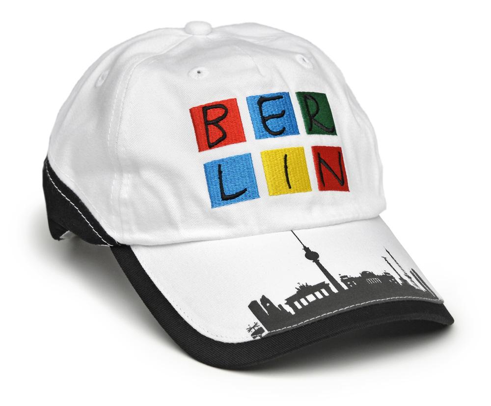 Basecap BERLIN weiß-bunt / Skyline