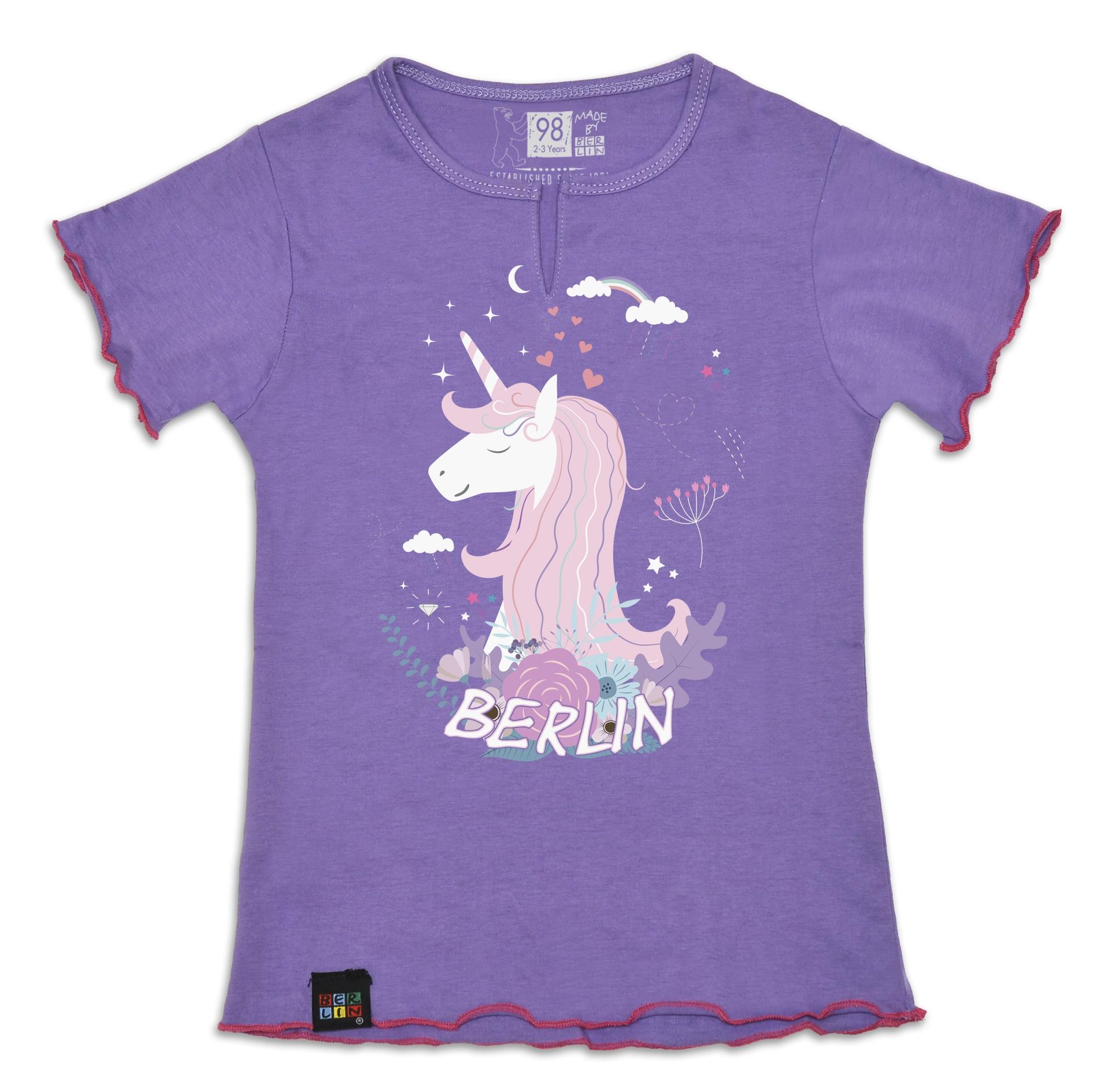 Girly T-Shirt Patch BERLIN lila-140