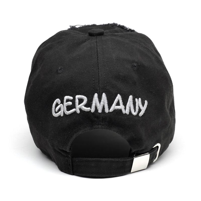 Basecap BERLIN schwarz-grau 3D