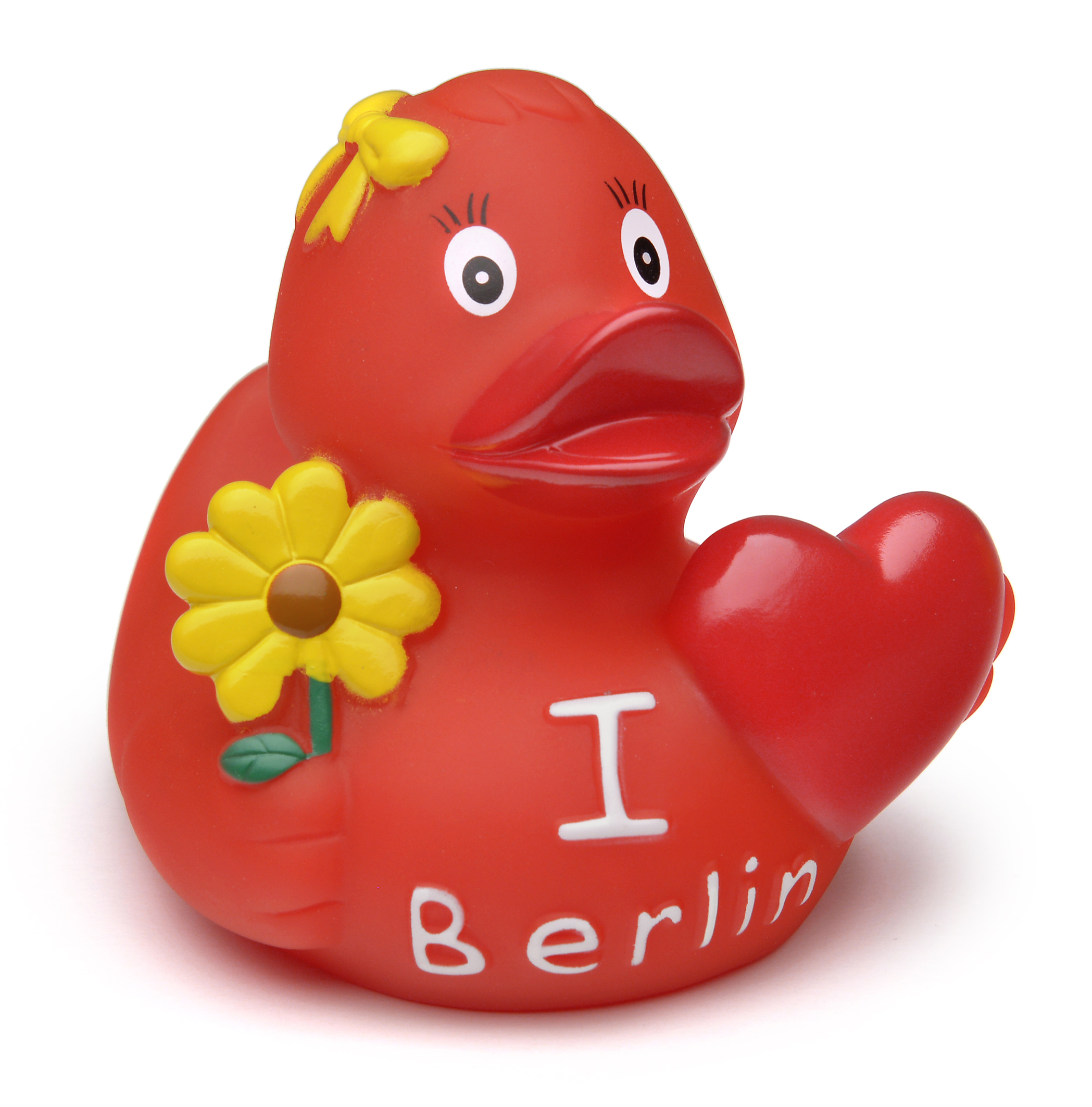 "Gummi-Ente ""I love Berlin"" rot"