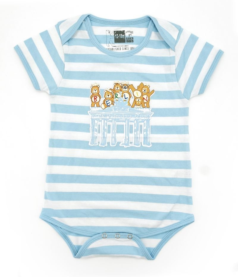 Baby Body BERLIN weiß-blau-0-6 Monate