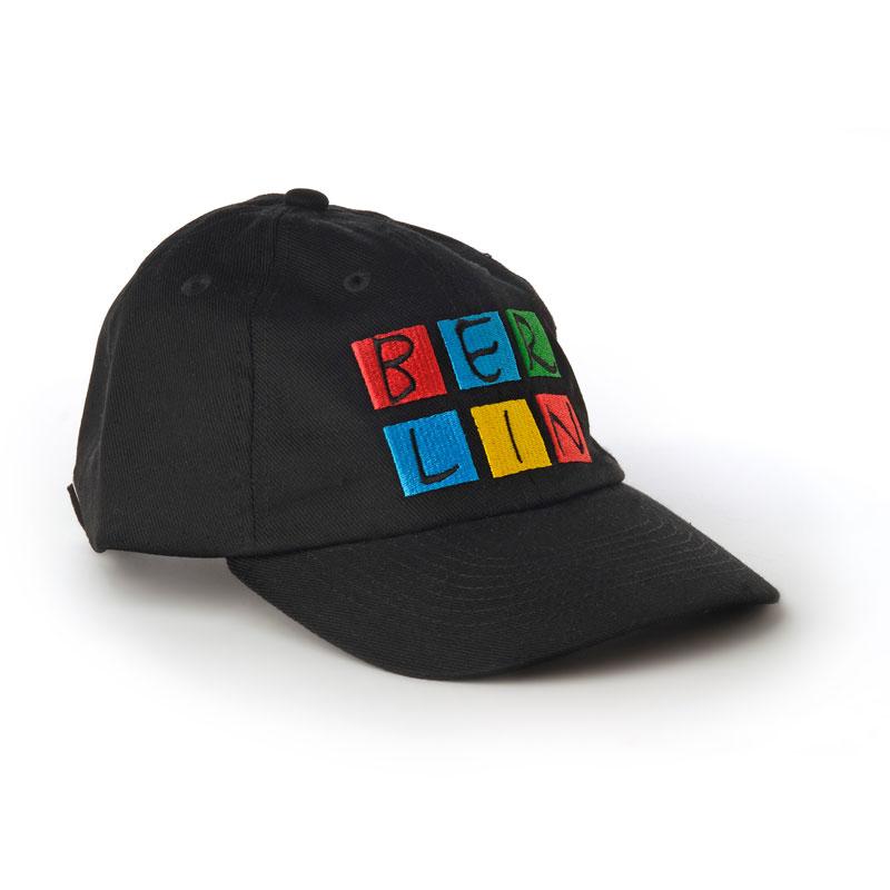 Basecap BERLIN schwarz-bunt