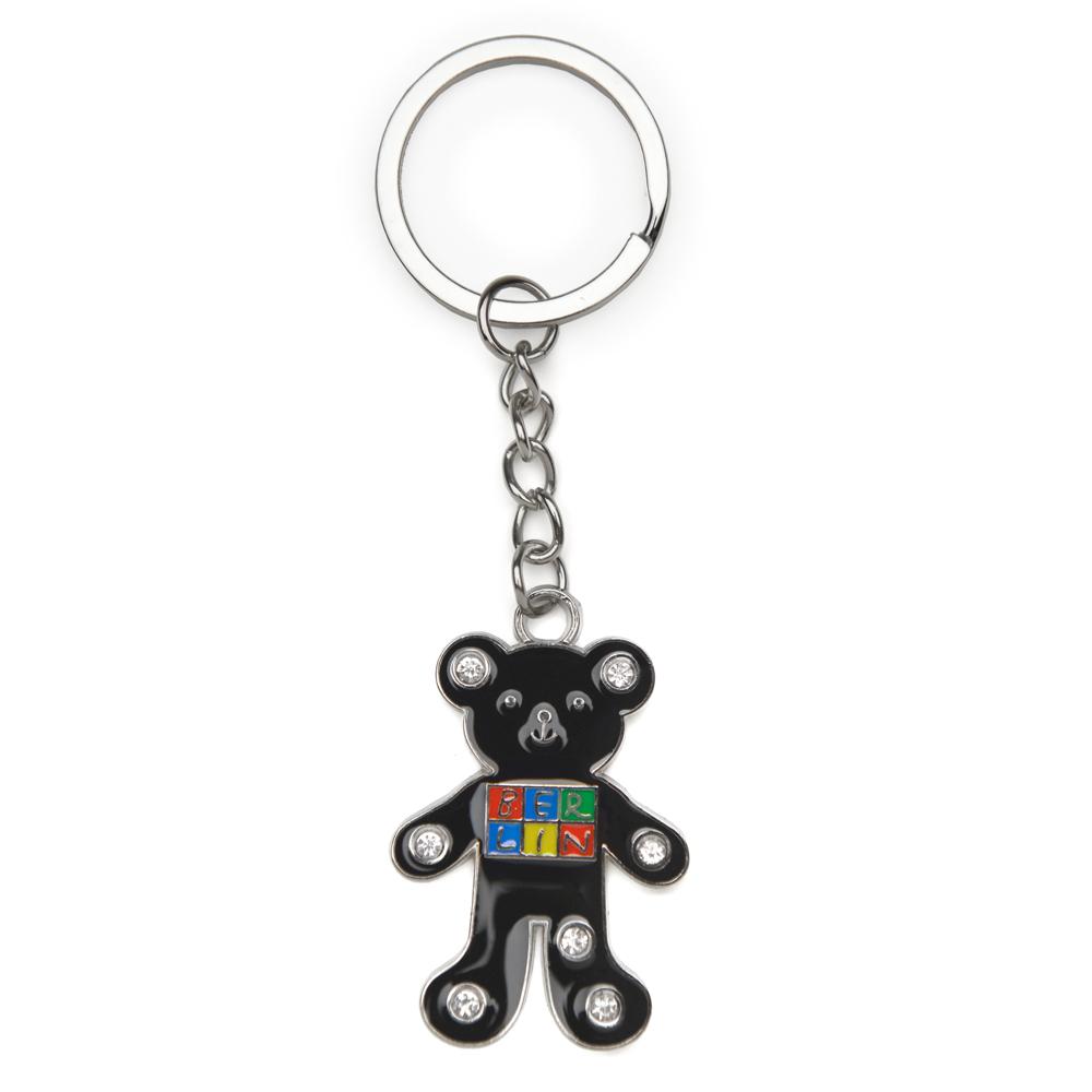 Schlüsselanhänger Metall BERLIN schwarzer Bär