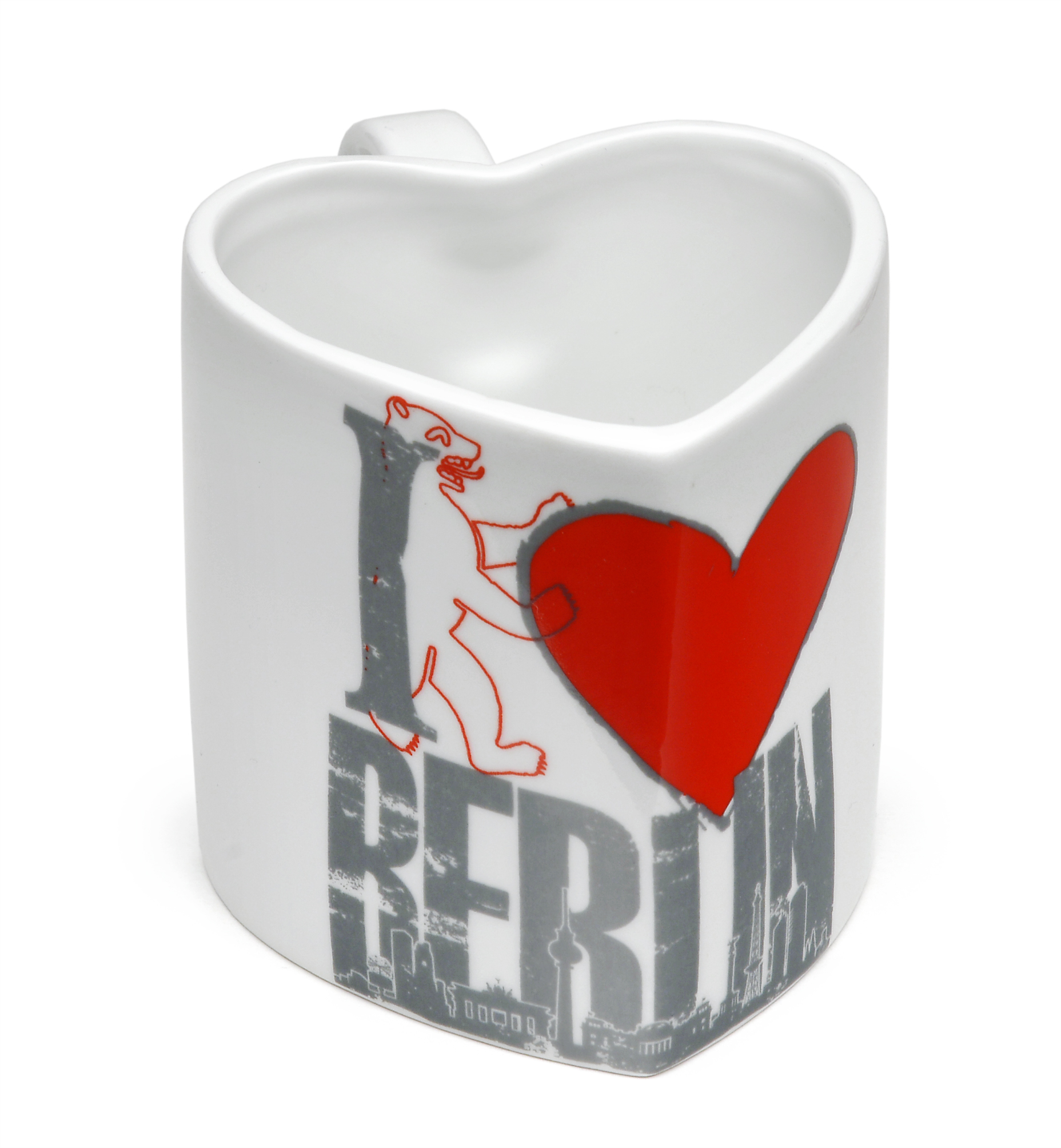 "Tasse Herzform ""I love Berlin"" weiß NEU"