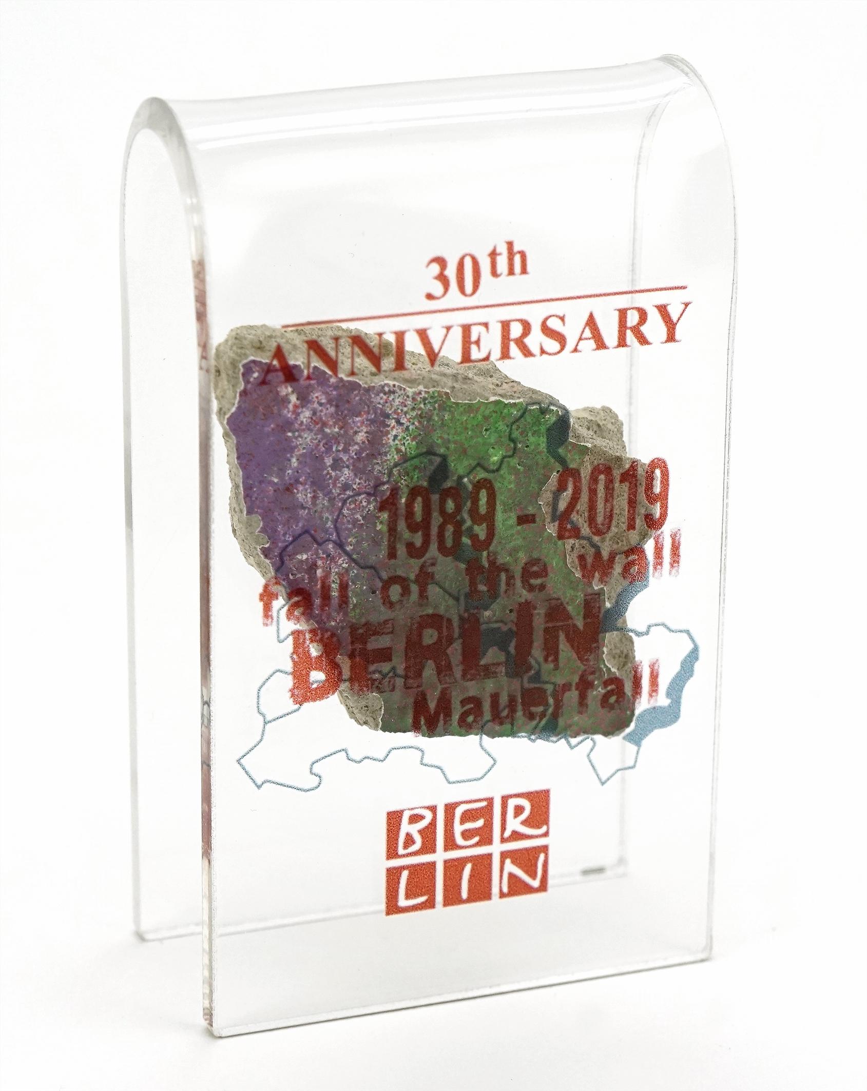 Sonder-Edition  Mauer-Acrylbogen 30 Jahre Mauerfall