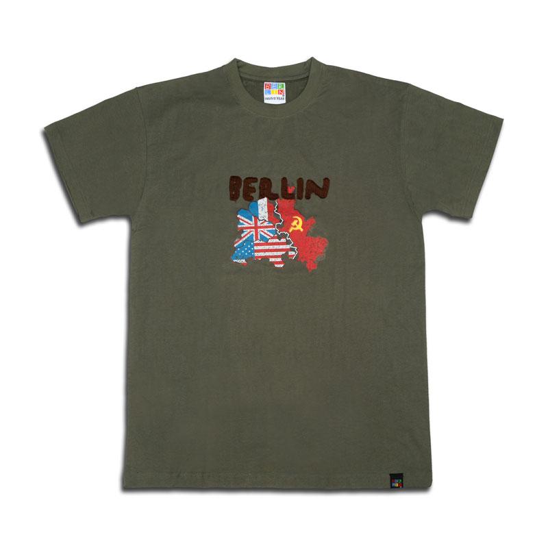 "Kids T-Shirt ""Divided City"" oliv-128"