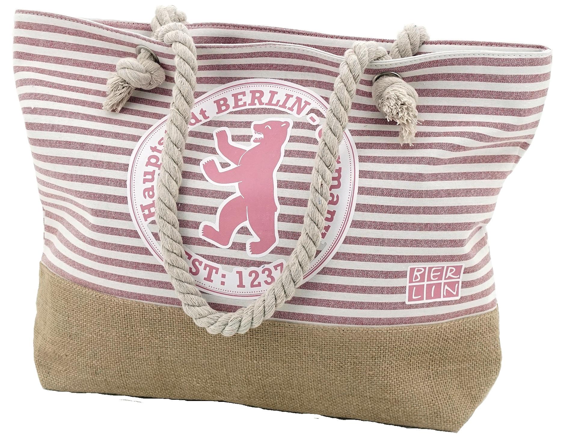 Summerbag Stempel rosa gestreift