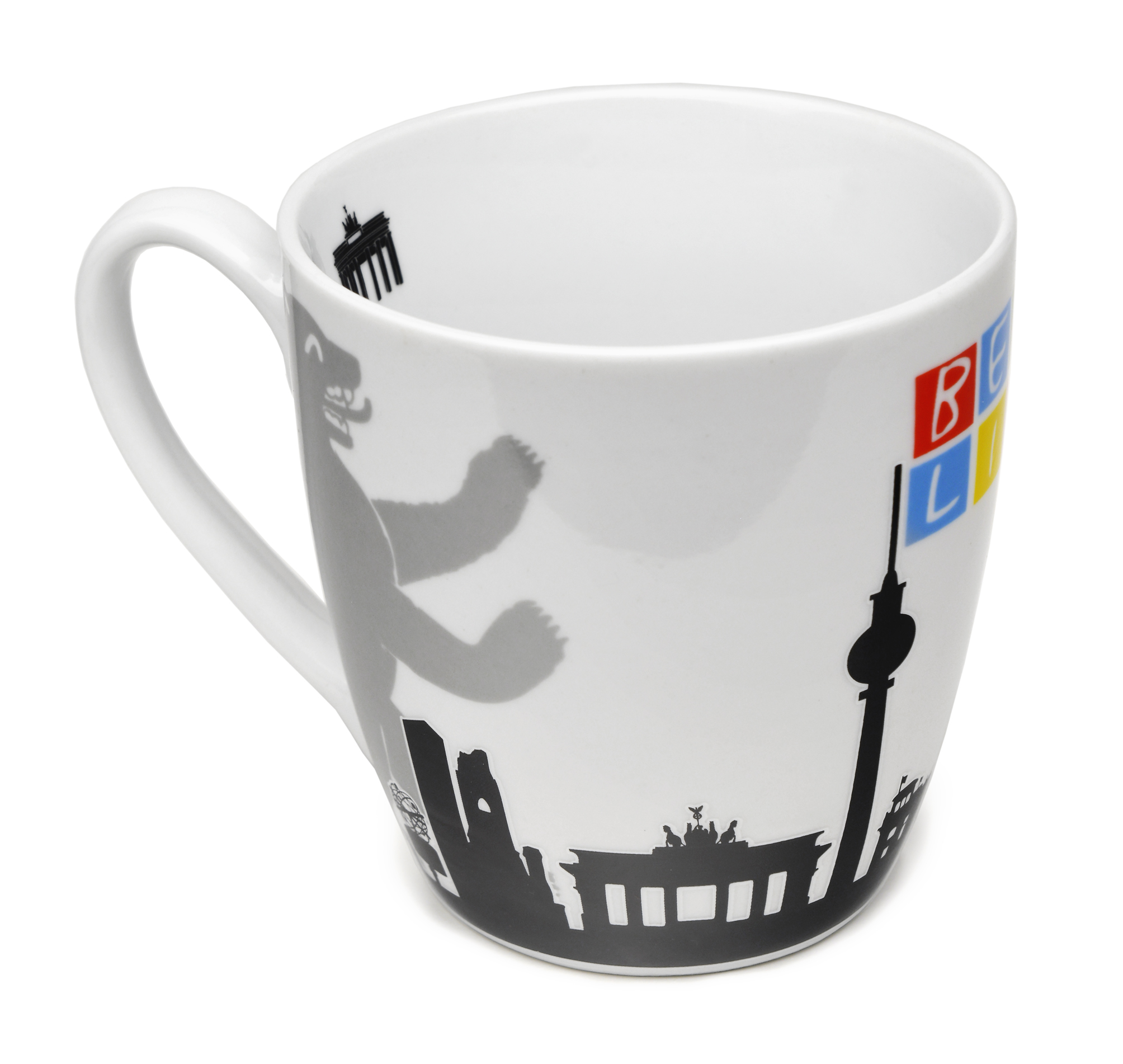 Tasse BERLIN Skyline Bär, weiß