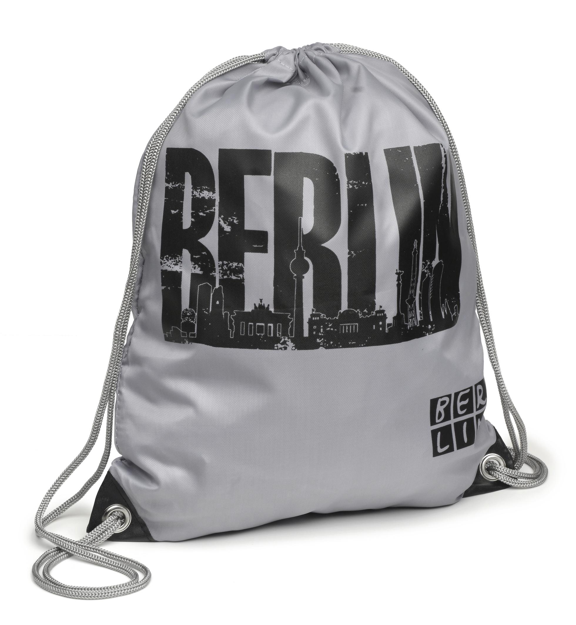 Sportbeutel BERLIN Skyline grau-schwarz