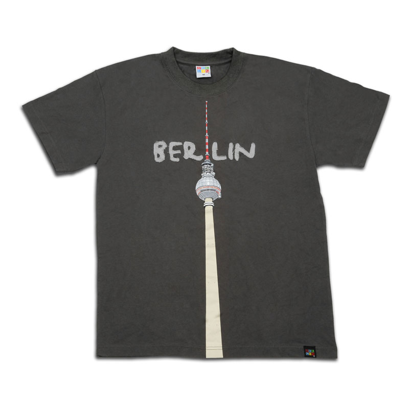 T-Shirt TV-Turm grau-S