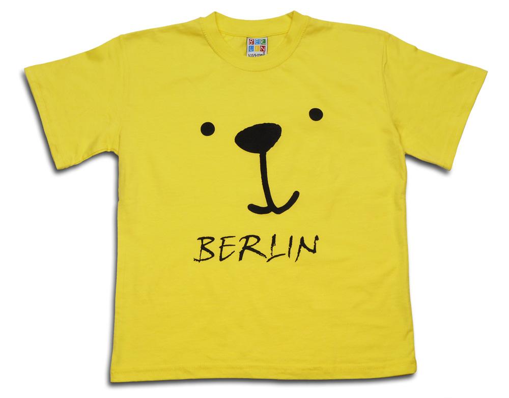 Kids & Baby T-Shirt Bärchen gelb-86