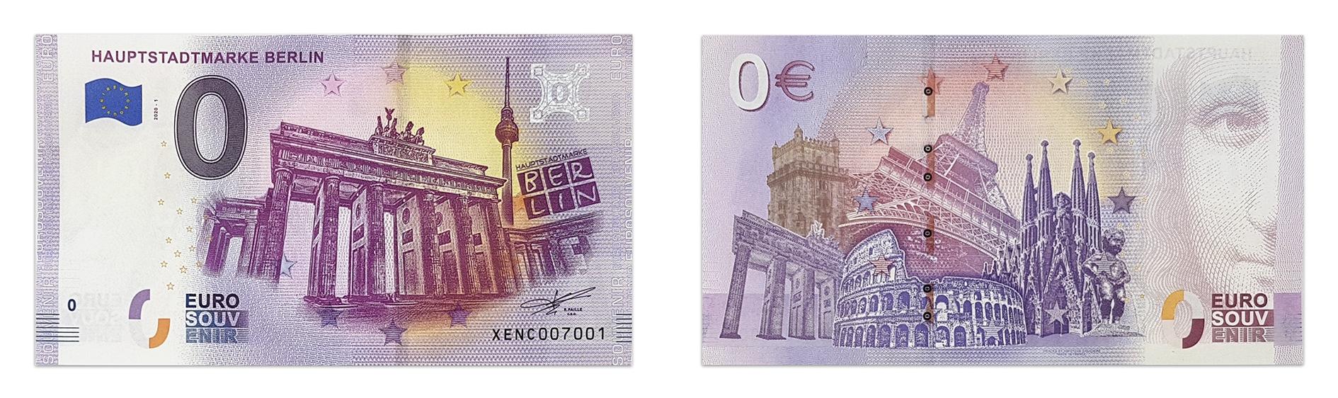 0 Euroschein Hauptstadtmarke BERLIN