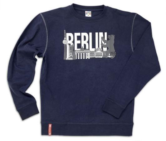 Sweatshirt BERLIN Skyline navy-L