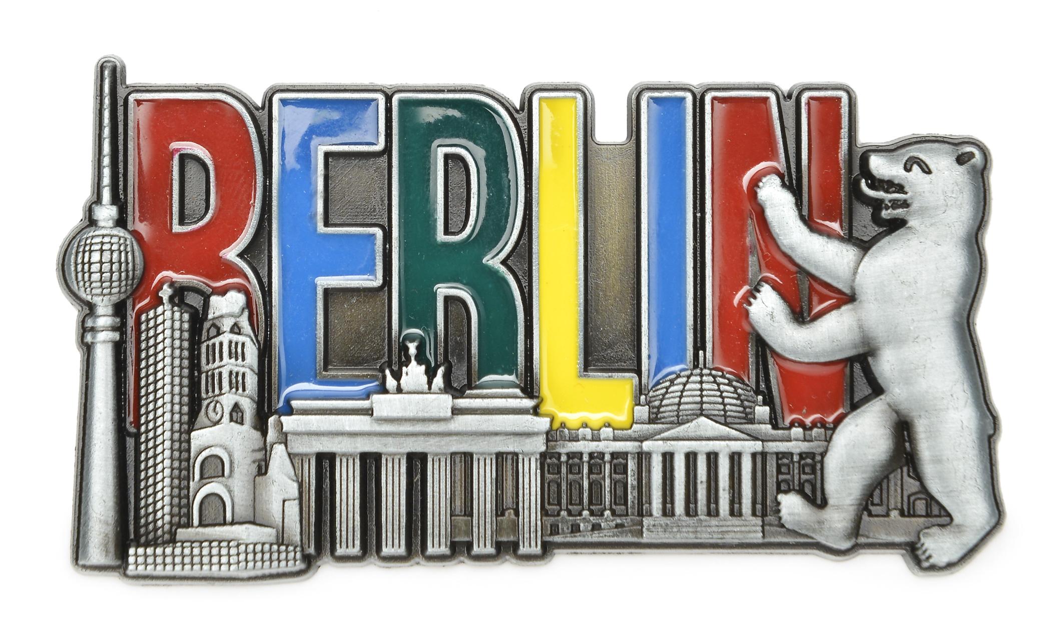 Magnet BERLIN Skyline Relief / Metall