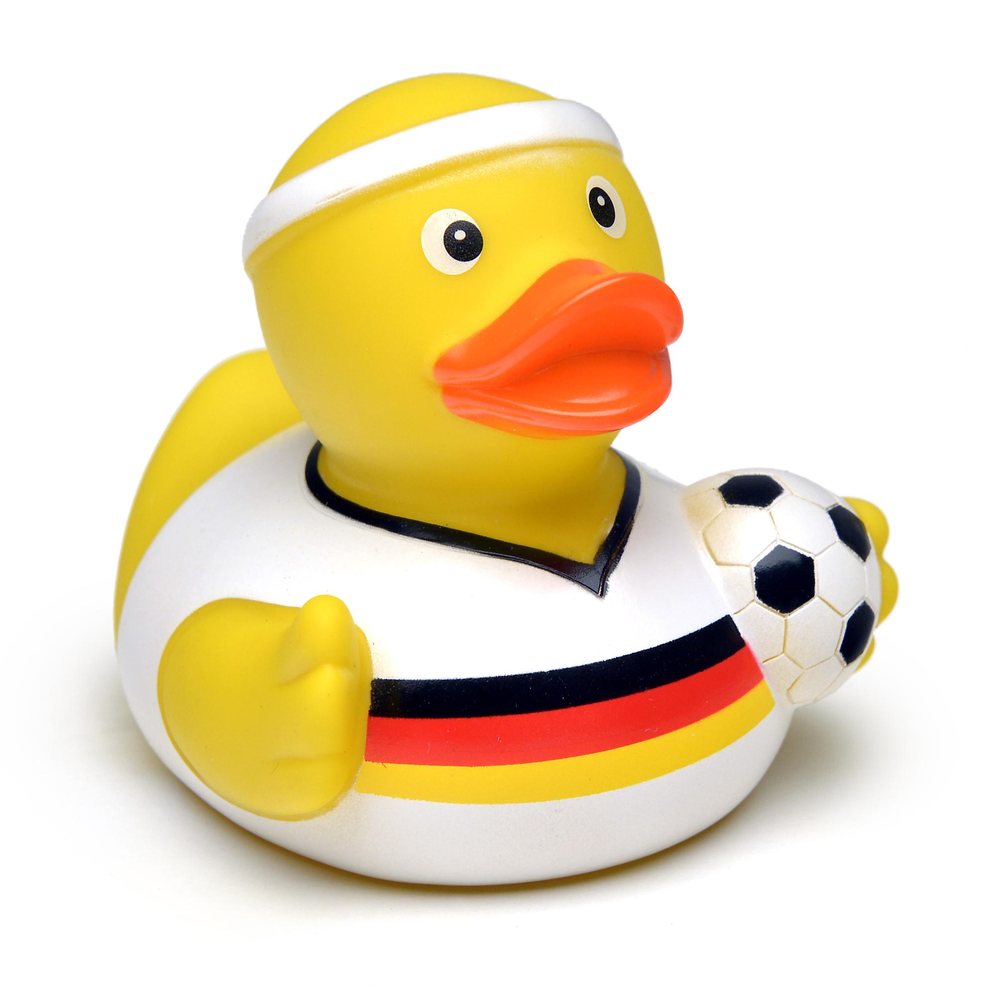 Gummi-Ente BERLIN Deutschland weißes Trikot