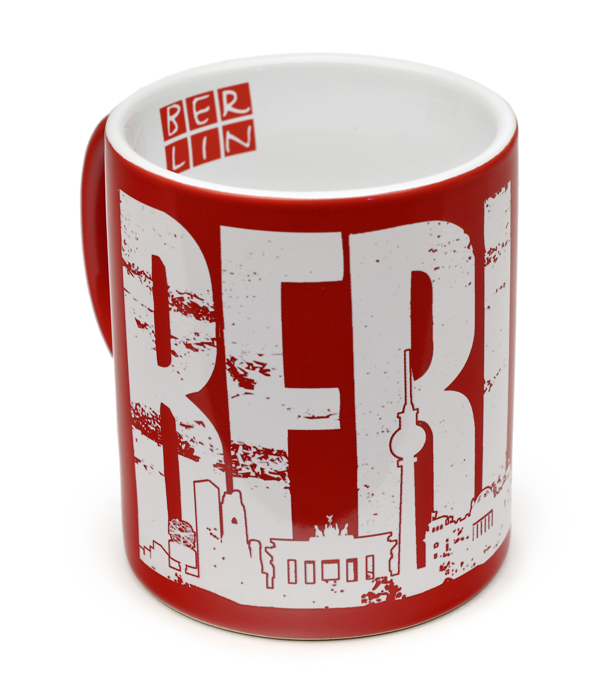Tasse BERLIN Skyline rot-weiß