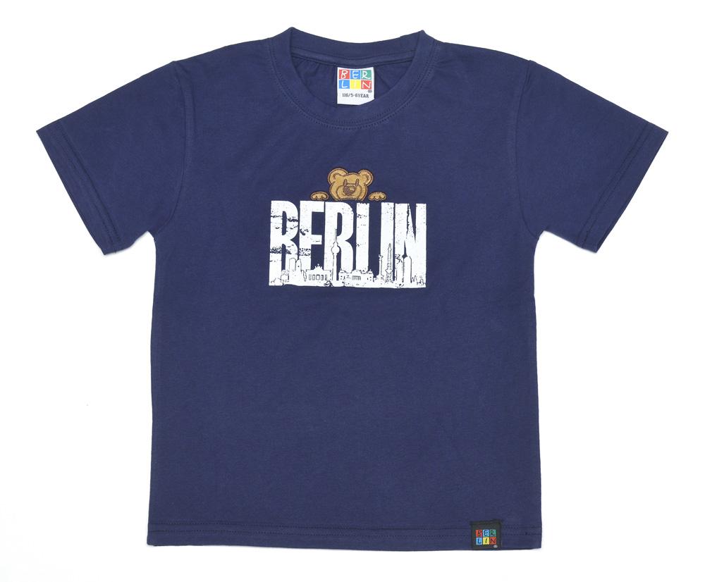Kids T-Shirt BERLIN Bärchen hellblau-92