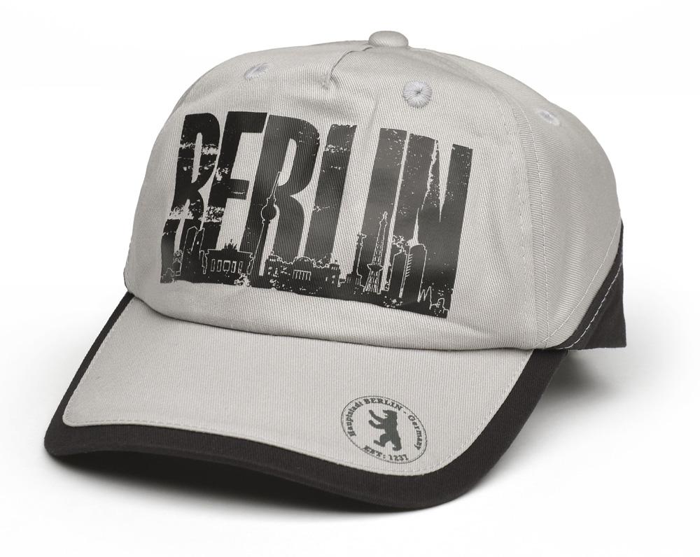Cap BERLIN / Skyline grau-schwarz