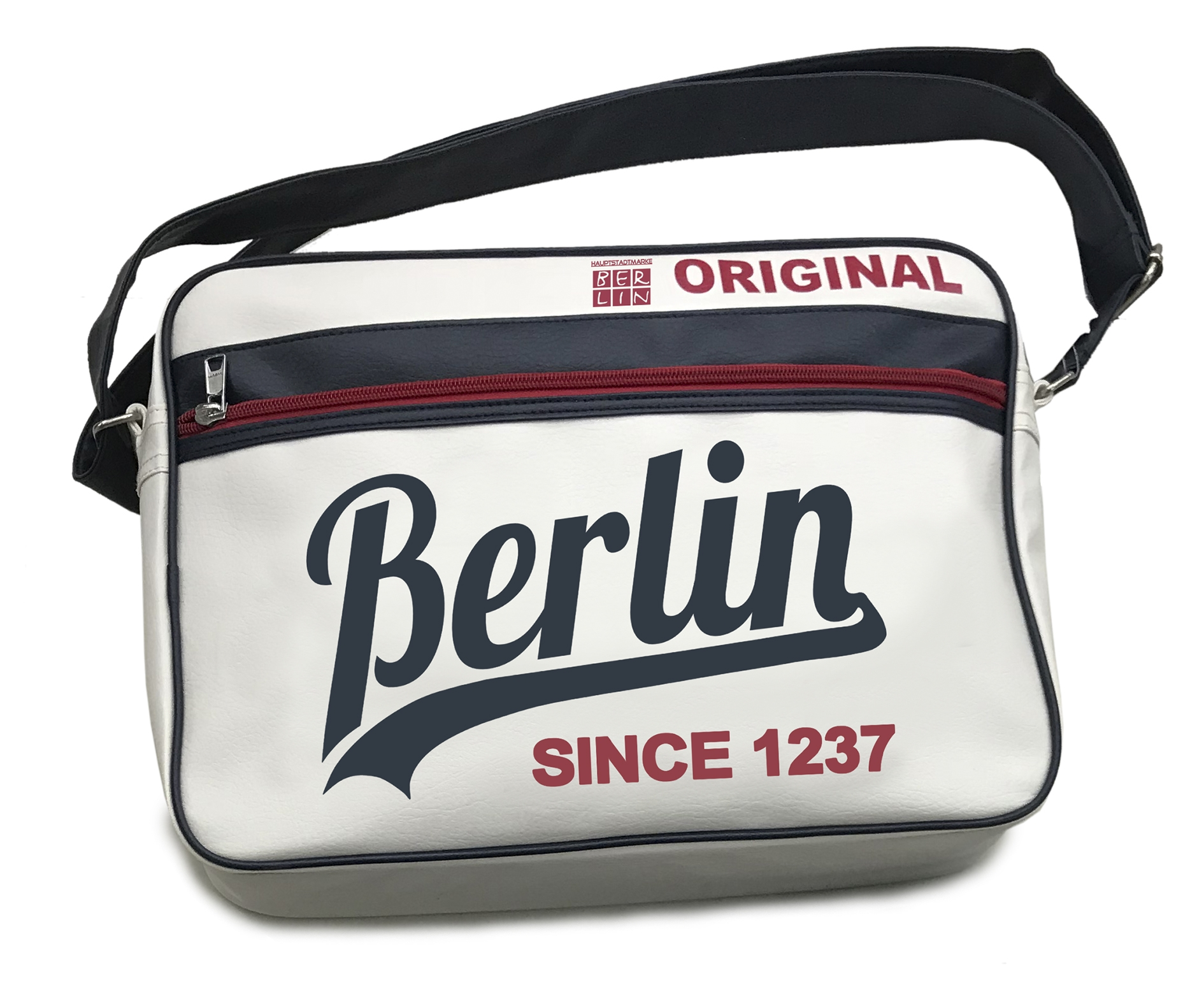 Retrotasche BERLIN Original weiß