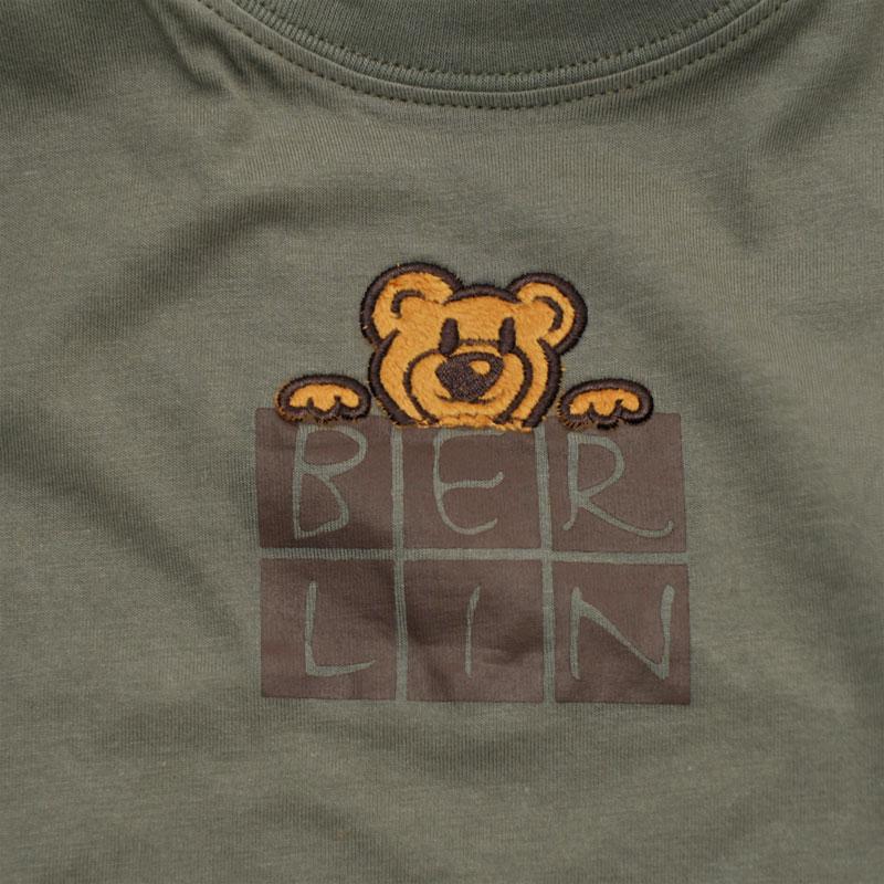Kids T-Shirt BERLIN Bärchen oliv-98