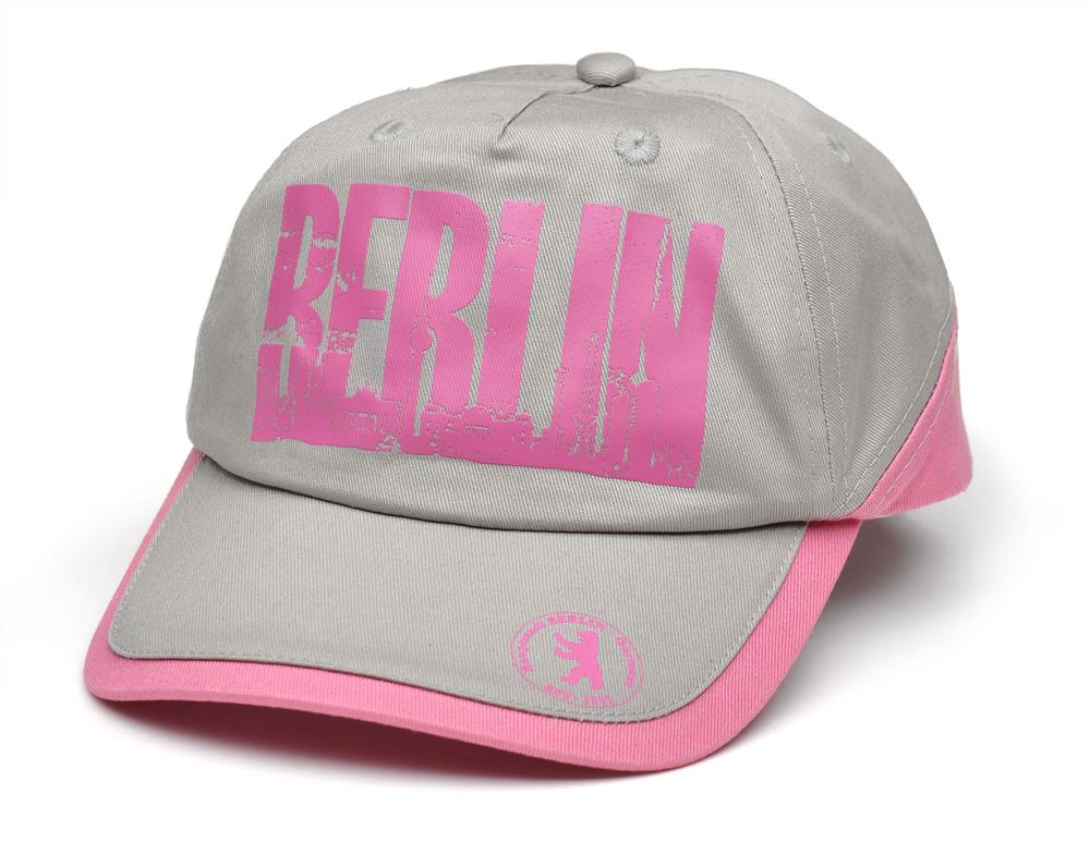 Cap BERLIN / Skyline grau-pink