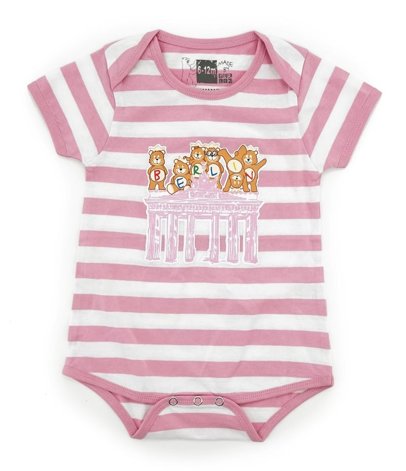 Baby Body BERLIN weiß-pink-12-18 Monate