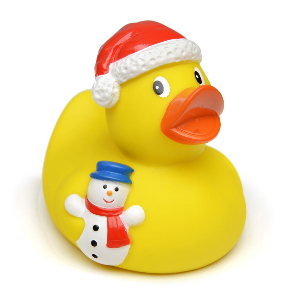 Gummi-Ente BERLIN Weihnachten / Schneemann