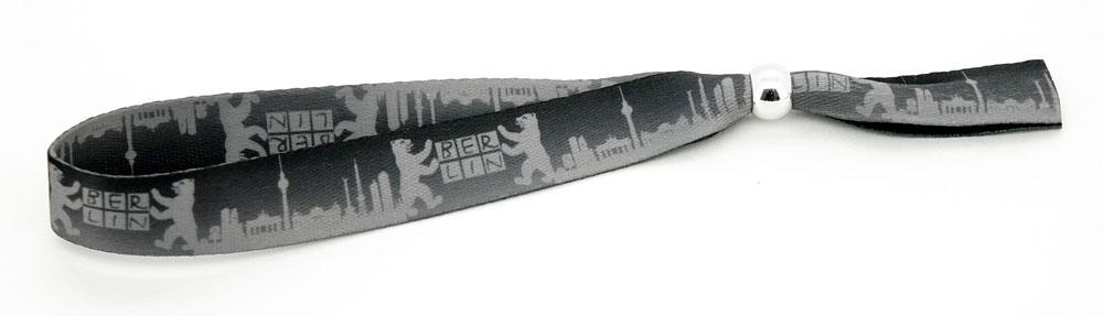 Festival Armband Berlin schwarz-grau