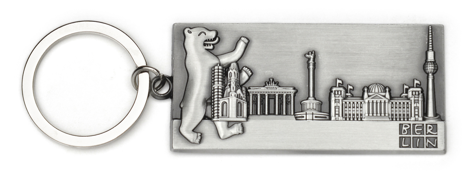 Schlüsselanhänger BERLIN Bär & Skyline