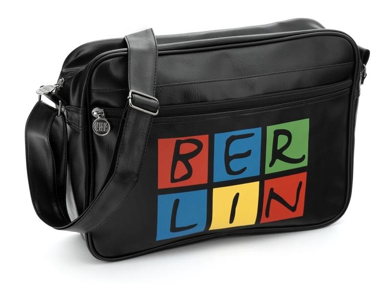 Retrotasche 2.0 BERLIN schwarz-bunt