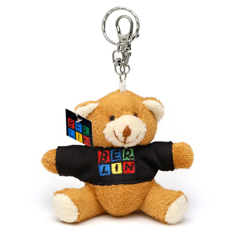 Schlüsselanhänger Plüschbär BERLIN mit T-Shirt