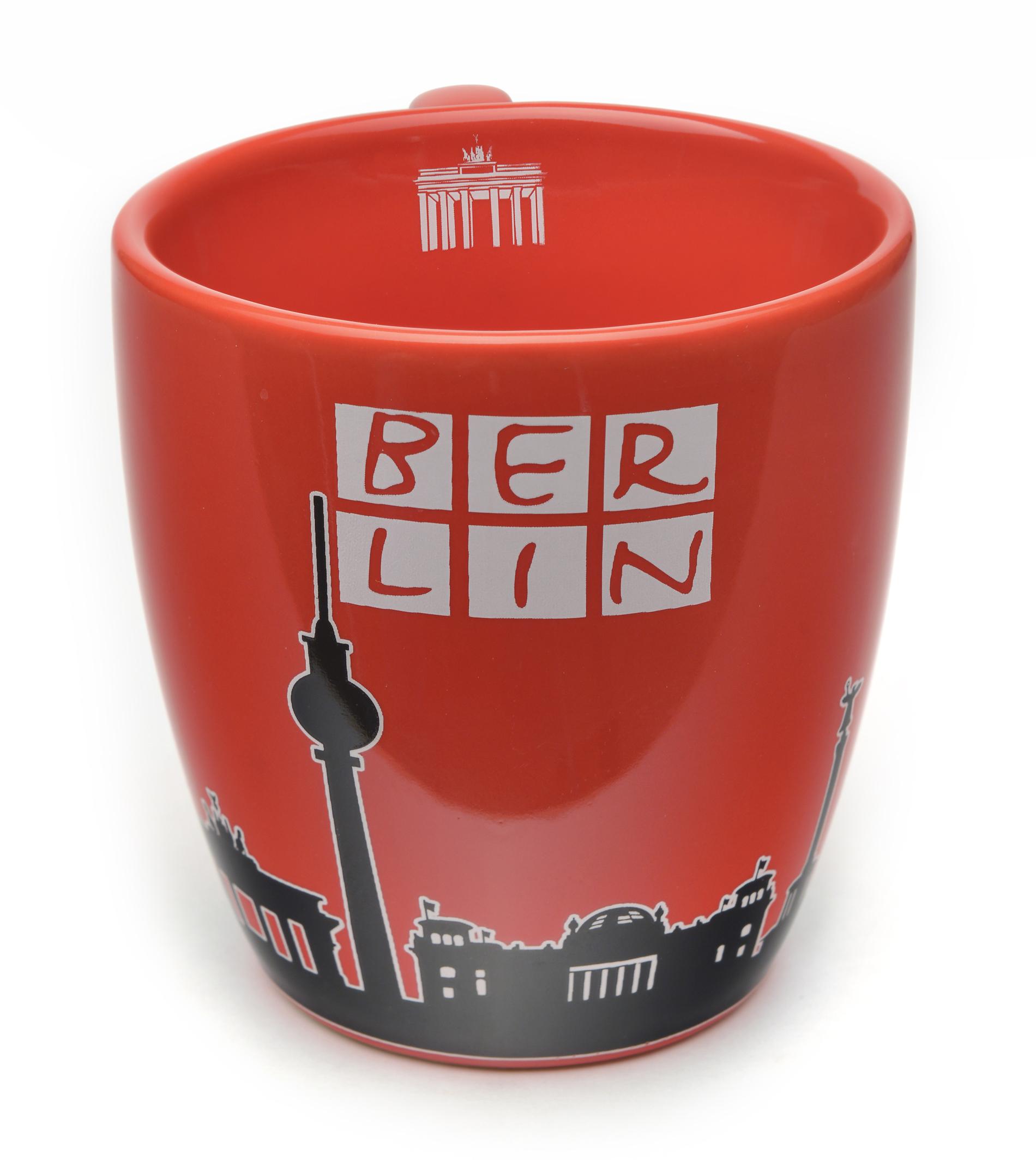 Tasse BERLIN Skyline Bär, rot